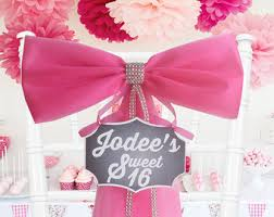 Personalized Sweet 16 Decoration Party Bow Quinceanera