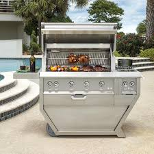 Deluxe Patio Bistro Gas Grill by Hestan 36 Inch Deluxe Stainless Steel Freestanding Natural Gas