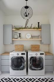 Farmhouse Laundry Room Open Shelves Since You Can See Into Our I