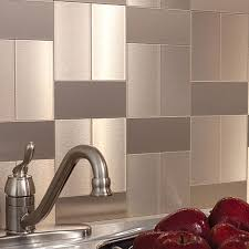 Metal Adhesive Backsplash Tiles by Aspect Peel And Stick Backsplash Tiles In Glass Stone And Metal