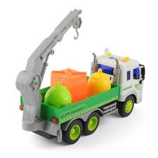 Large 1/16 Recycling Garbage Truck Bin Lorry Light& Sound Rubbish ...