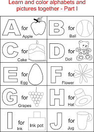 Alphabet Part I Coloring Printable Page For Kids Alphabets Pages