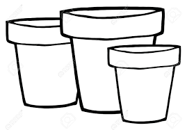 Flower Pot Clip Art Black And White