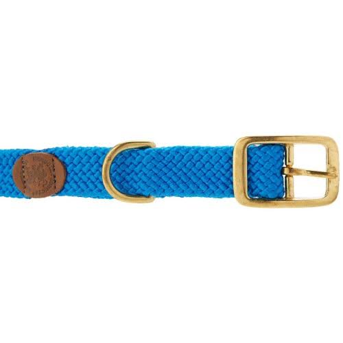 "Mendota Products Double Braid Dog Collar - 1"" x 18"", Blue"