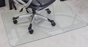 Hard Surface Office Chair Mat by Amazon Com Myglassmat 36 X 48 Inch Tempered Glass Chair Mat For