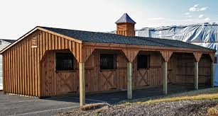 Shed Row Barns For Horses by 12x42 Shedrow Horse Barn Includes 3 12x12 Stalls And 8x12 Tack