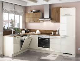 einbauküche mankaco mk magnolia glanz kastelleiche küchenzeile l form 175 x 285cm mit e geräte