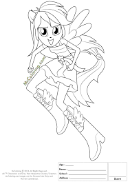 Mlp Coloring Pages Rainbow Dash Equestria Girls Download Nice My Little Pony Rocks