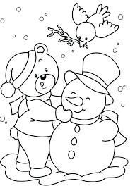Winter Animal Coloring Pages Animals In For Preschool Printable