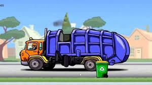 Garbage Truck Cartoon Trucks For Children. - YouTube