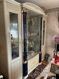 esszimmer schrank vitrine italienisches design echtholz barock