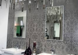 silver damask tile