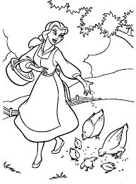 Beauty And The Beast Coloring Pages 91