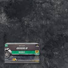 rust oleum rocksolid 70 oz marble stone obsidian garage floor kit
