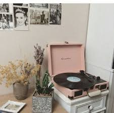 Vinyl With Pastel Pink B W Prints Audrey