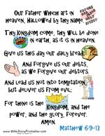 The Lords Prayer Bible Verse Printables