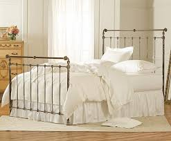 Iron & Brass Sleigh Bed Vintage White Charles P Rogers Beds