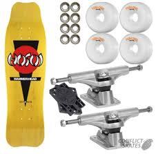 100 Bullet Trucks HOSOI Hammerhead Double Kick Skateboard 90 Complete