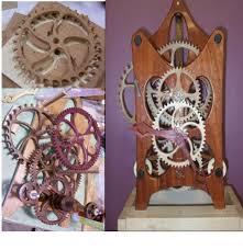 amazon com wood gear clock kit home u0026 kitchen