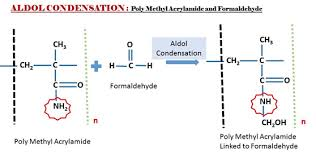 In Which Two Of The Poly Methyl Acrylamide Condensate Methacrylamide React And Loose A Molecule Water Leading To Cross