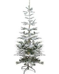 Loon Peak Flocked Noble 65 Fir Trees Green White Artificial Christmas Tree With Stand