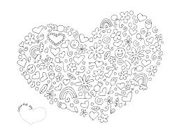 Heart Coloring Pagepdf SheetsColouring PagesAdult
