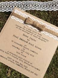 Sample Rustic Shabby Chic Vintage Kraft Wedding Invitation With Lace Hessian
