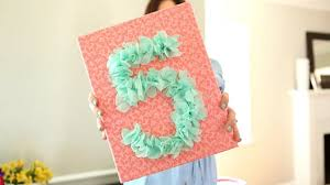 A Birthday To Remember How Make Tissue Paper Number