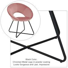 konferenzstuhl besucherstuhl esszimmerstuhl stoff samt rosa pink