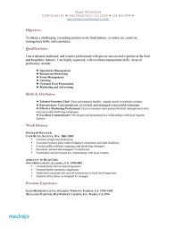 Examples Of Resumes For Restaurant Jobs Simple Resume Supervisor Samples Velvet Example