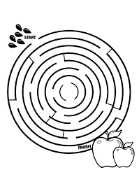 Round Maze Coloring Pages Game