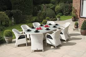270cm Sussex Oval Dining Table With 8 Armchairs
