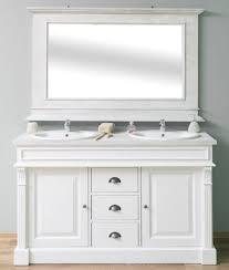 casa padrino landhausstil badezimmer set weiß hellgrau 1 doppelwaschtisch 1 wandspiegel massivholz badezimmermöbel im landhausstil