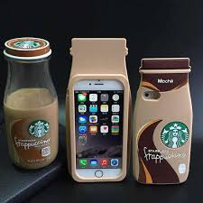 Fashion 3d Starbuck Mocha Frappuccino Bottle Coffee Cup Silicone Case For Iphone 4 4s 5 5s 6 Plus 6s Dhl Cell Phone Pouch Personalized