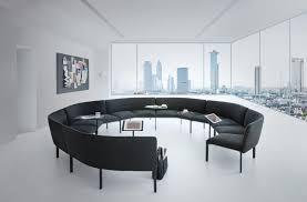 canapé circulaire banquette modulable design pour espace de coworking add