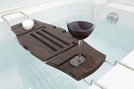 Bamboo Bathtub Caddy With Reading Rack by Amazon Com Umbra Aquala Bathtub Caddy Walnut Home U0026 Kitchen