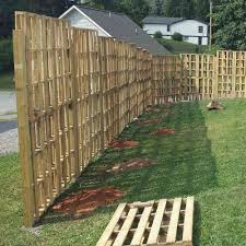 Fence Made From Pallets Pallet Wood Visualize Of