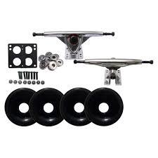 100 Reverse Kingpin Trucks RAW REVERSE LONGBOARD Skateboard TRUCKS 76mm BLACK WHEELS Package 780848458088 EBay