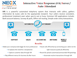 Interactive Voice Response (IVR) Server / Auto Attendant   Neox IP ... Asterisk And Elastix Ivr Auto Attendant Youtube Configuring The Functionality Mr56 Professional Business Voicemail Greetings Voip Infographic Smb Buyer Trends 2016 Dlexia Account Manager Cant Play Back Or Download 10 Essential Features Pascom Our Blog Eternity Pe The Ippbx For Futuristic Businses Ppt Video Sip Trunk Setup Xbluecom We Record Voice Prompts Pbx Voip How To Set Up Media Routes Cloud Communications Myoffice Cfiguration