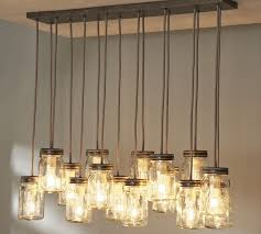 Nice Simple Rustic Kitchen Lighting Ideas With Hanging From Ceiling Mason Jar Lights