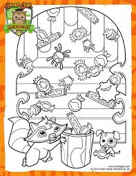 Summer Carnival Coloring Page
