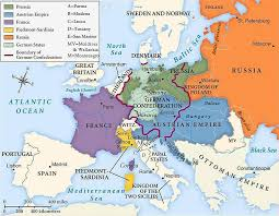Europe In 1815 After The Battle Of Waterloo
