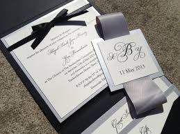 Modern Wedding Invitations Elegant Black And
