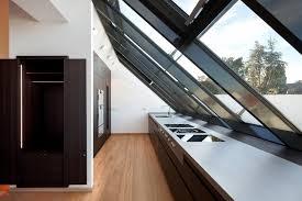 dachausbau minimalistisch küche münchen