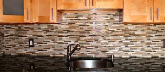 glass and mosaic tile