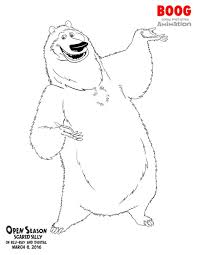 Coloring Pages 8 March Fun With Elliot Boog Open Season Scared Silly