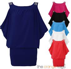 diamante mini dress cut out shoulder oversized top baggy tunic