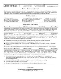 Resume Examples Restaurant Example New Free Best Manager Within Managers