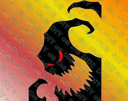Oogie Boogie Halloween Stencil by Oogie Boogie Svg Etsy