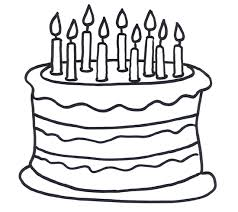 Printable Birthday Cake Coloring Pages Me